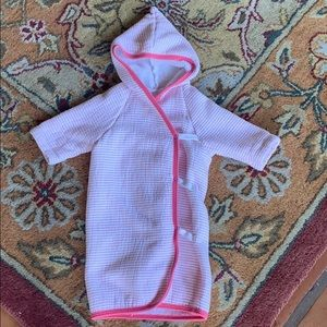 Giggle baby hooded bathrobe/terry cloth wrap